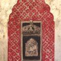Haveli Window (red with mushroom gold)