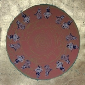 Rasa Mandala Pink with mushroom leaf