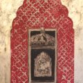 Haveli Window (red with mushroom gold)
